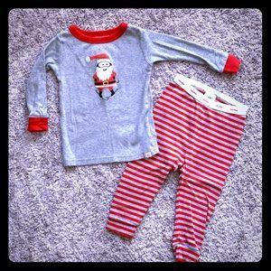 Baby Gap Santa Skiing 2-Piece Pajamas